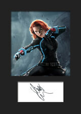 SCARLETT JOHANSSON (BLACK WIDOW) #2 A5 Signed Mounted Photo Print -FREE DELIVERY