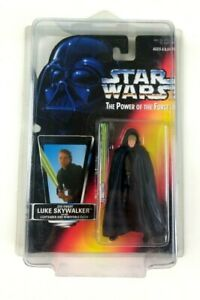 Star Wars Kenner Power Of The Force Luke Skywalker Figure Tan Vest 1996 Sealed