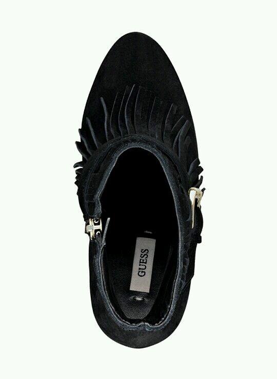 Raten Damen Callica Fransen Schwarz Stiefel Echtes Wildleder Größe Größe Wildleder 7.5 2f6423