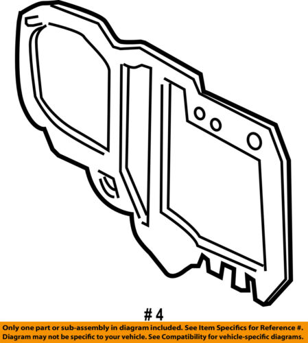 FORD OEM Evaporator Heater-Mount Plate Seal FOVY19C593A
