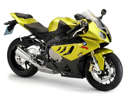 Modelo de motocicleta 1:18 BMW S 1000 RR verde de maisto
