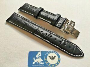 bracelet cuir noir 20mm