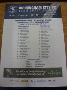 29-04-2016-Colour-Teamsheet-Birmingham-City-v-Middlesbrough-folded-marked-T