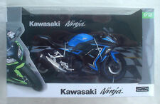 "KAWASAKI NINJA 250SE BLUE 2015 1/12 Aoshima 6"" scale motorcycle US SELLER NEW"