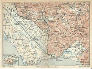 Cartina Geografica Roccaraso.Paludi Pontine Monti Ausoni Latina Frosinone Carta Geografica Touring Club 1924 Ebay