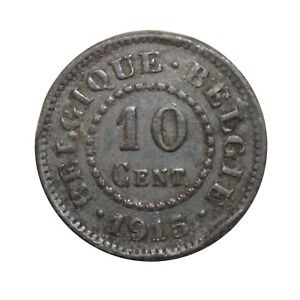 KM-81-10-Centimes-German-Occupation-Coinage-Belgium-1915-Fair