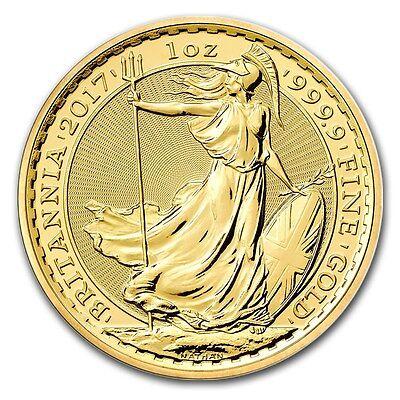 2017 Great Britain 1 oz Gold Britannia Brilliant Uncirculated - SKU #105223