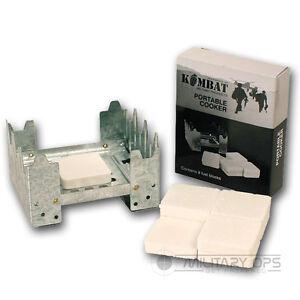 Hexamin-KOCHER-Portable-Kochen-British-Army-Stove-Ration-Pack-Soli-Kraftstoff