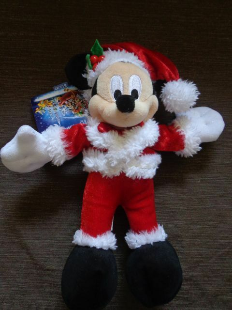 """Disney Mickey Mouse Holiday Sparkle Plush 7"""" - New"""