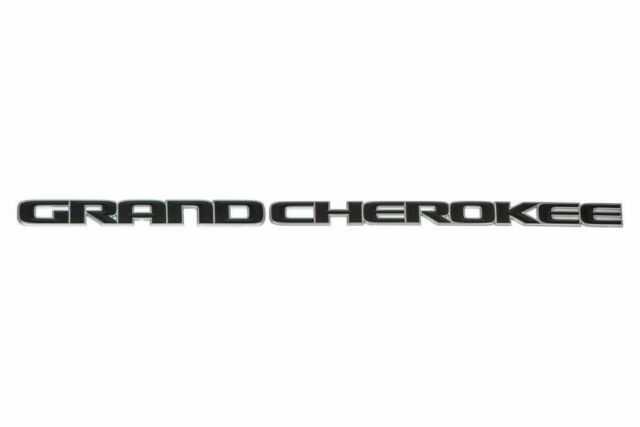 Mopar 2014-2018 Jeep Grand Cherokee REAR Black Replacement Nameplate Decal Emblem GENUINE OEM BRAND NEW