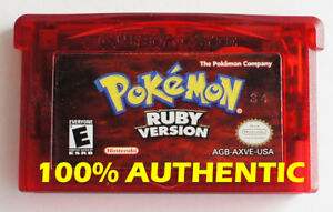ORIGINAL AUTHENTIC Pokemon Ruby Version Can Save New Battery Game Boy Advance