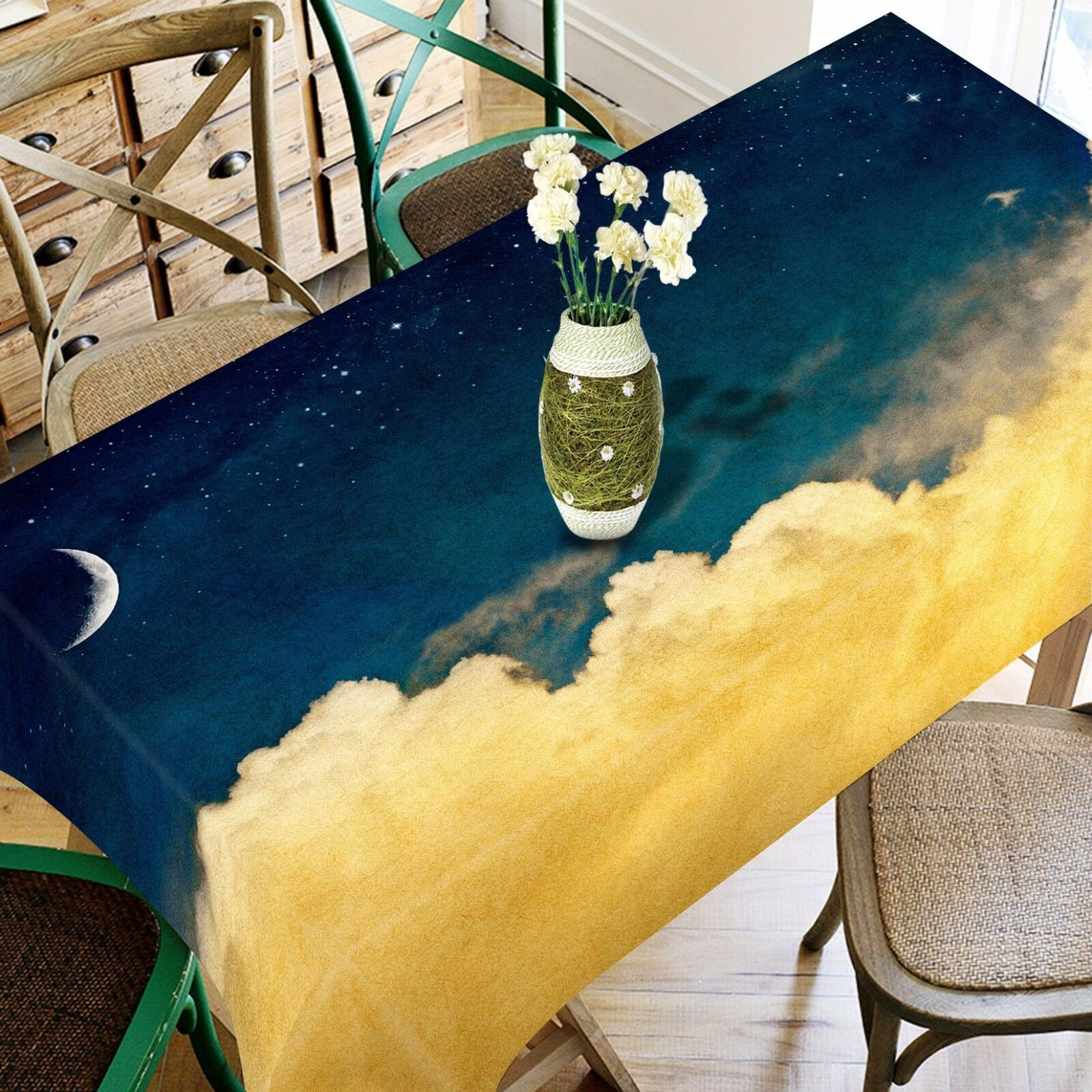 3D Clouds Stars 1 Tablecloth Table Cover Cloth Birthday Party Event AJ WALLPAPER