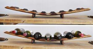 Barrel Stave Wine Rack 7 Bottle Holder Made From Retired Oak Wine
