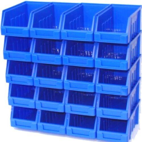 Pack de 10 bleu taille 2 de réserve ou mural pile garage atelier personnel