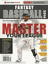 Fantasy Baseball 2014 magazine Master your league Mock draft Cheat sheets