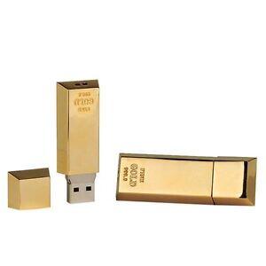 PENDRIVE-USB-8-GB-LINGOTTO-ORO-in-Metallo-Lucido-PERSONALIZZATO-con-INCISIONE