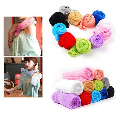 Fashion Girls Women's Scarf Candy Colour Long Soft Scarf Wrap Shawl Stole