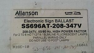 trailer light diagram, ballast on fluorescent fixtures t5 circuit allanson  electronic sign ballast ss696at-208-347v 2-6 lamps 10'-