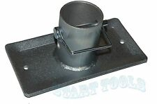 2,000lbs Trailer Jack Foot Plate w/ Pin Base for A-Frame Boat RV Camper Trailer