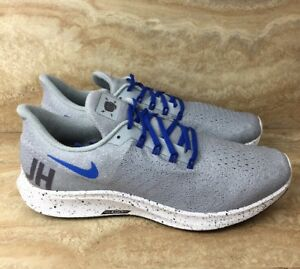 8a723c102446 Nike ID AIr Zoom Pegasus 35 Running Shoes Gray Blue Size 10.5