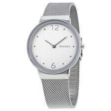 Skagen Women's SKW2380 Freja Silver Dial Stainless Steel Mesh Bracelet Watch