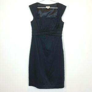 OJAY-Womens-Black-Sleeveless-Lined-Dress-with-Side-Zipper-Size-12