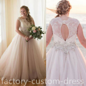 Details About Vintage Country Wedding Dresses A Line Plus Size Appliques Beaded Bridal Gowns