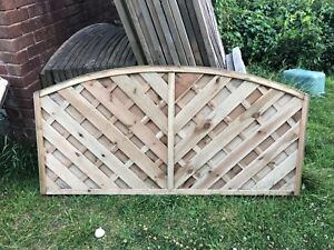 Details about 6ft x 3ft Small Garden Fence Panel Wood Outdoor Yard Privacy  Screen Edge Fencing