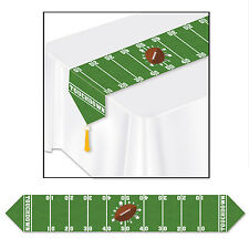 FOOTBALL Field Gameday NFL Sports TABLE RUNNER Super Bowl  Birthday Party Decora