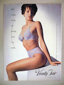 5df1b10a6e72d Image is loading Vanity-Fair-Lingerie-PRINT-AD-1990-bra-panty-