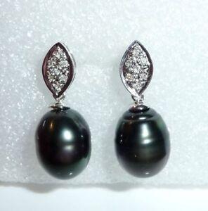 Ohrringe-in-750-Weissgold-mit-14-natuerlichen-Diamanten-2-laenglichen-Tahiti-Perlen