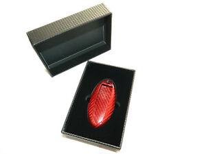 Rot-Carbon-Schluessel-Keyless-Case-Huelle-passt-fuer-Nissan-J11-GTR-R35-370Z-Z34