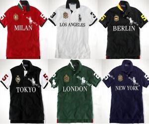 NWT-Polo-Men-039-s-T-Shirt-Leisure-Lapel-Motion-City-Shirt-Custom-Fit-M-XXL