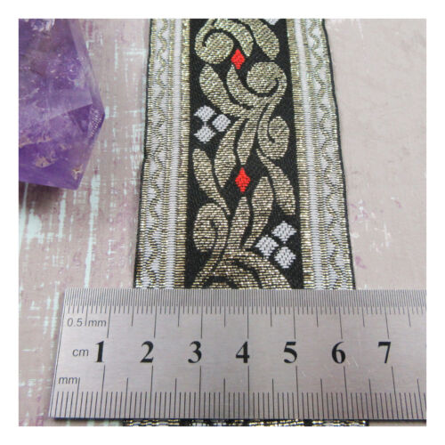 5 WIDTHS* TRIMMING UK 1 METRE PATTERNED EMBROIDERED FABRIC RIBBON *8 STYLES
