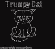 Trump Cat Rhinestone Iron on Transfer              IH9J