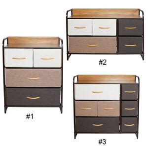 Details about Chest of Fabric Drawers Dresser Furniture Cabinet Bedroom  Storage Bins Organizer