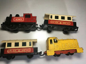 Matchbox-Eisenbahn-Superfast-Lesney-Zug-Lok-Passagier-Waggon-Railway