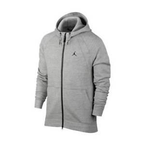 bf2b1c7358 Das Bild wird geladen Jordan-Sportswear-Wings-Fleece-Full-Zip-Herren-Hoodie-