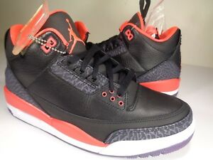 jordan retro 3 black and red