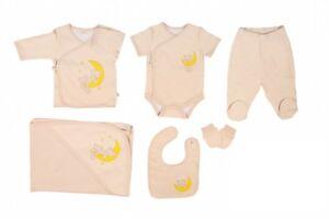 e868bd1f1 Newborn Baby Clothes Set %100 Organic Bear 7 pcs-Gifted Box-Take Me ...