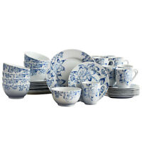 Pfaltzgraff Sapphire Blossoms 32 Piece Dinnerware Set