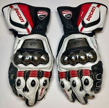 Ducati Cousre D1 Full Metal Mototcycle Leather Race Gloves USA Free Shipping