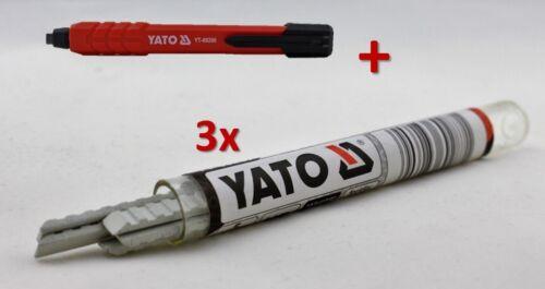 ZIMMERMANNSBLEISTIFT MIT MINEN TISCHLER MAURER DRUCKBLEISTIFT MINE HB 145mm YATO