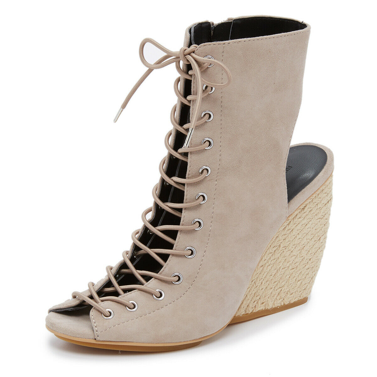 REBECCA MINKOFF Donne Elle Sand Suede Lace  -Up Wedges  195 NIB  vendita all'ingrosso