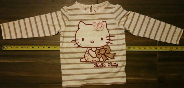 478f2eff7f15 Marks   Spencer HELLO KITTY GIRLS Size 4- 5 Striped Long Sleeve ...