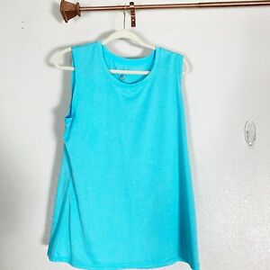 Champion-Women-039-s-Vapor-Crew-Neck-Tee-Shirt-Aqua-Size-Medium-Sleeveless