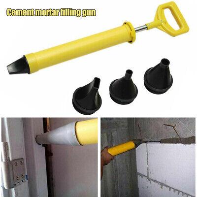 Grout Caulking Gun w// 4 Nozzles Mortar Cement Applicator Sprayer Stainless Steel