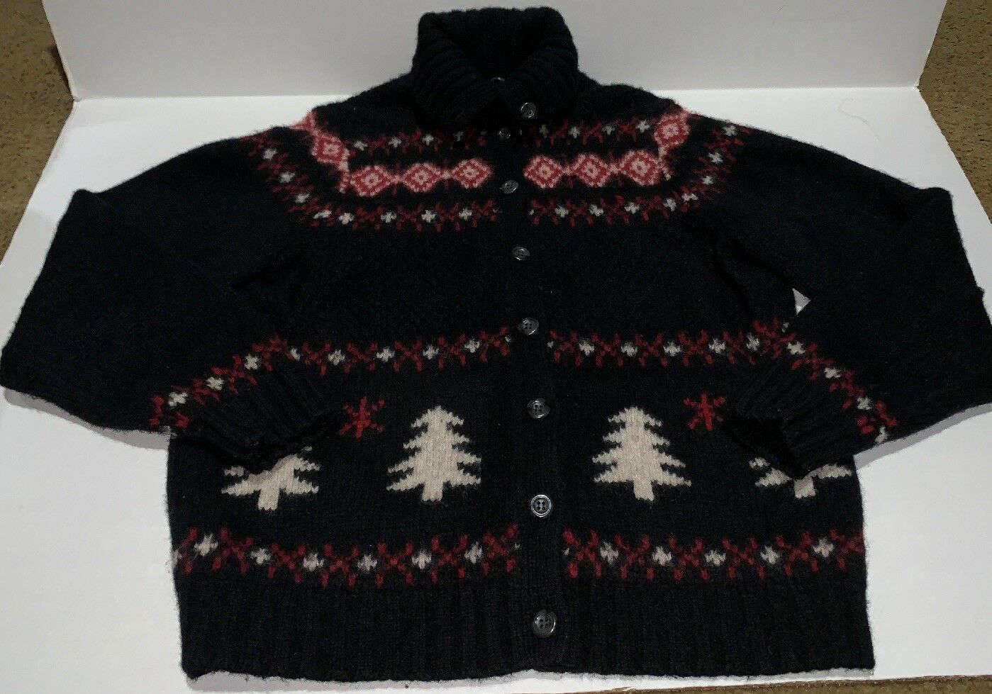 Preowned- Vintage Eddie Bauer Womens Womens Womens Wool Sweater (Size Large) 061927