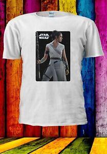 STAR-WARS-LOGO-aumento-di-Skywalker-Rey-SPADA-LASER-Uomini-Donne-Unisex-T-shirt-3387