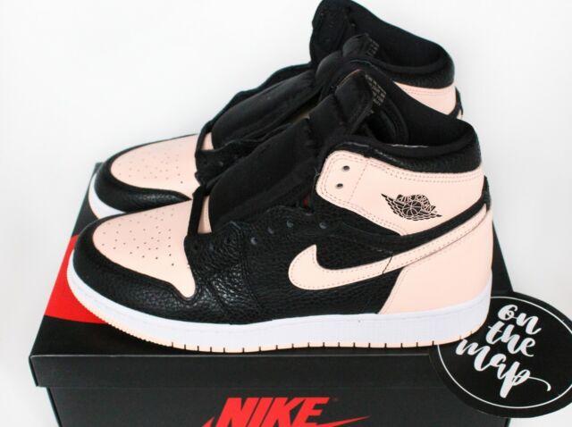 wholesale dealer e5955 e5fae Nike Air Jordan 1 Retro High OG AJ1 Black Crimson Tint Pink GS UK 6 US 7Y  New